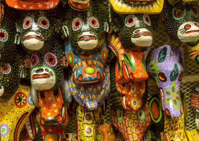 Masks at a market in Nicaragua